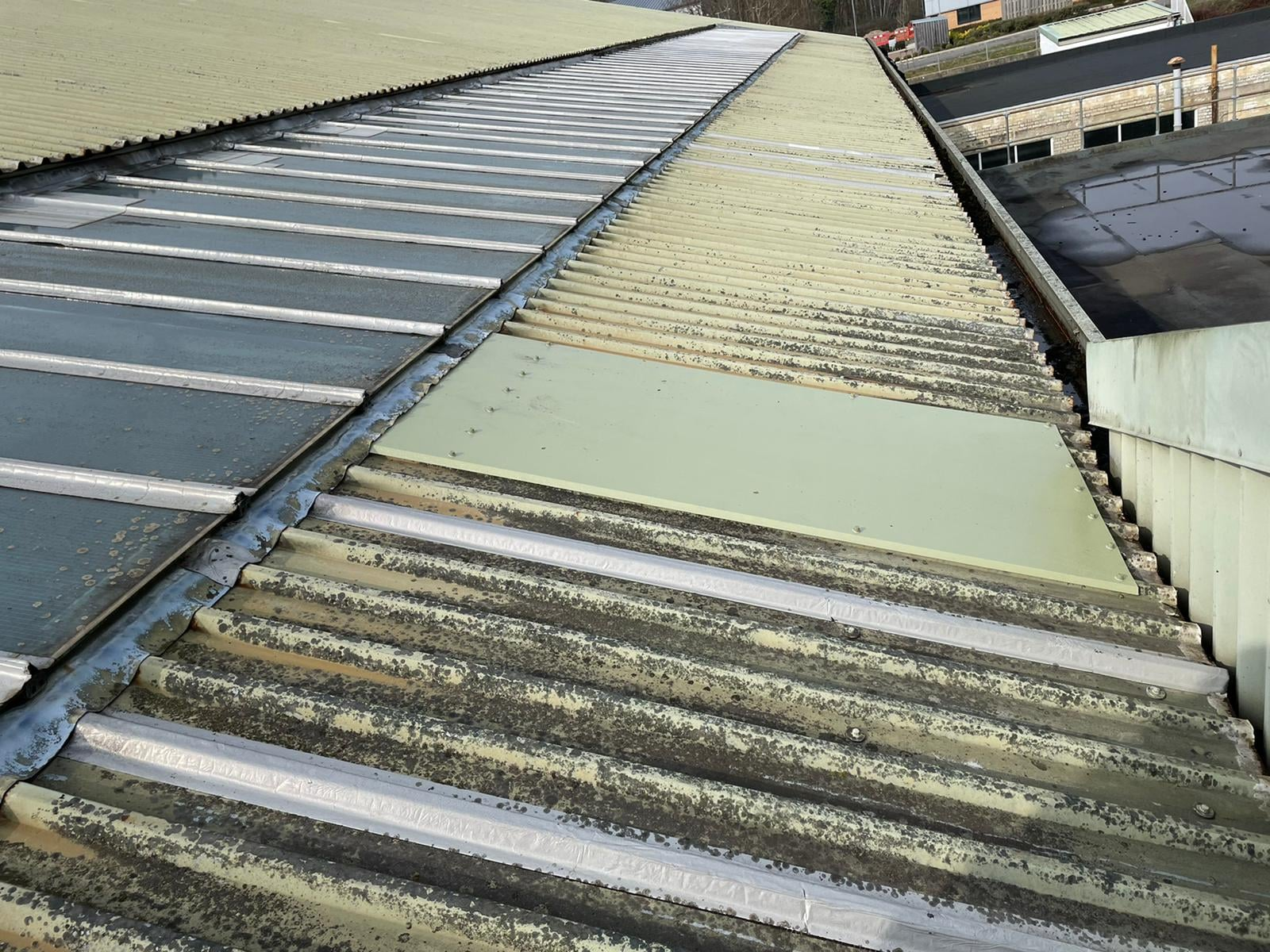 Repairs to a Factory roof in Cranleigh Surrey
