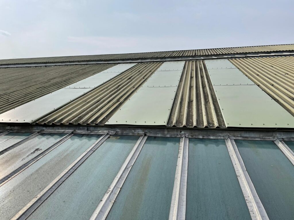 Repairs to a warehouse roof in Cranleigh Surrey