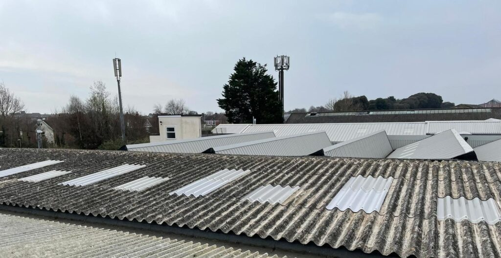 Rooflight Replacement to a Warehouse roof in Worthing West Sussex