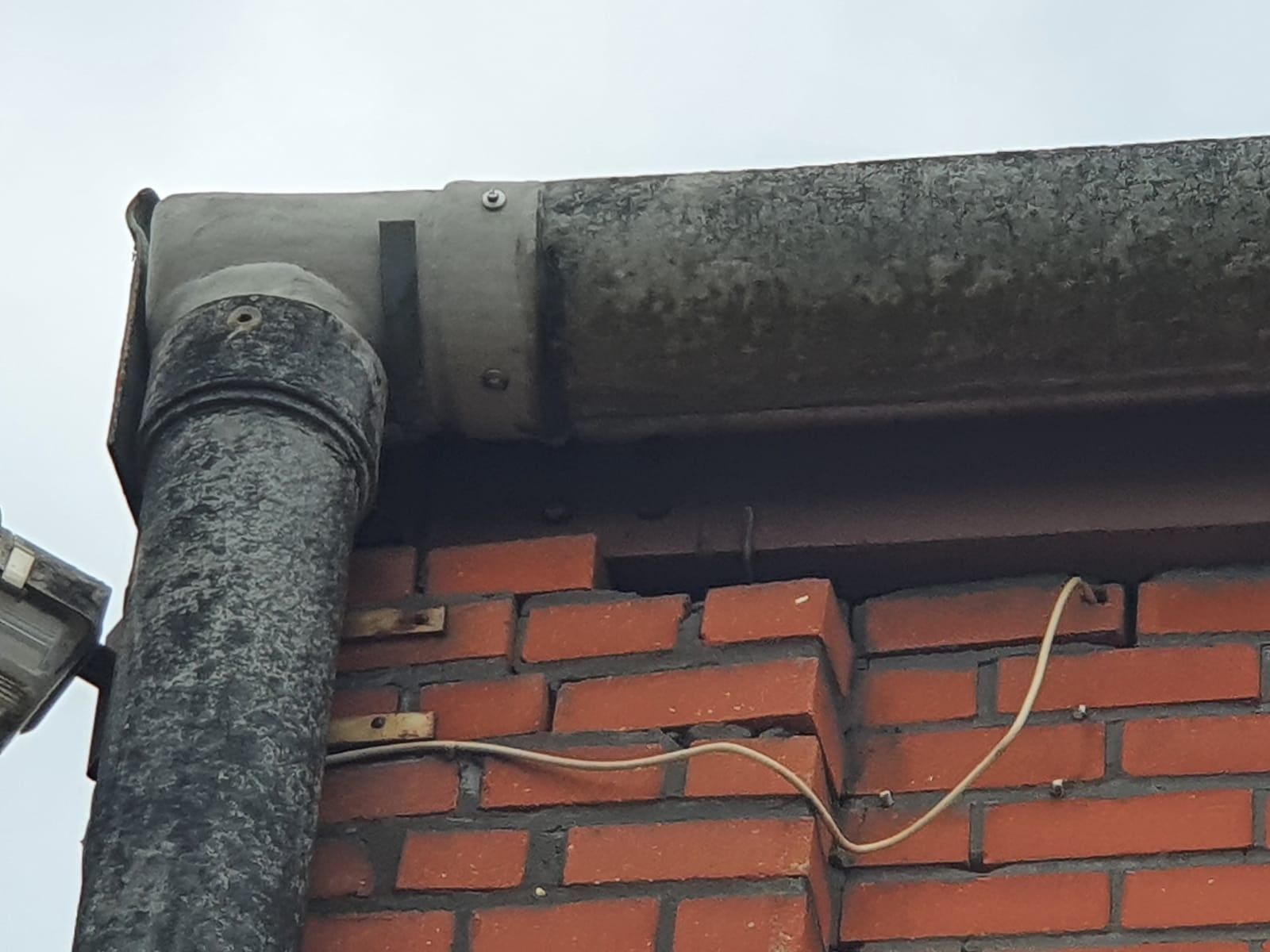 Guttering on a large Warehouse roof in Ash Vale Aldershot Hampshire