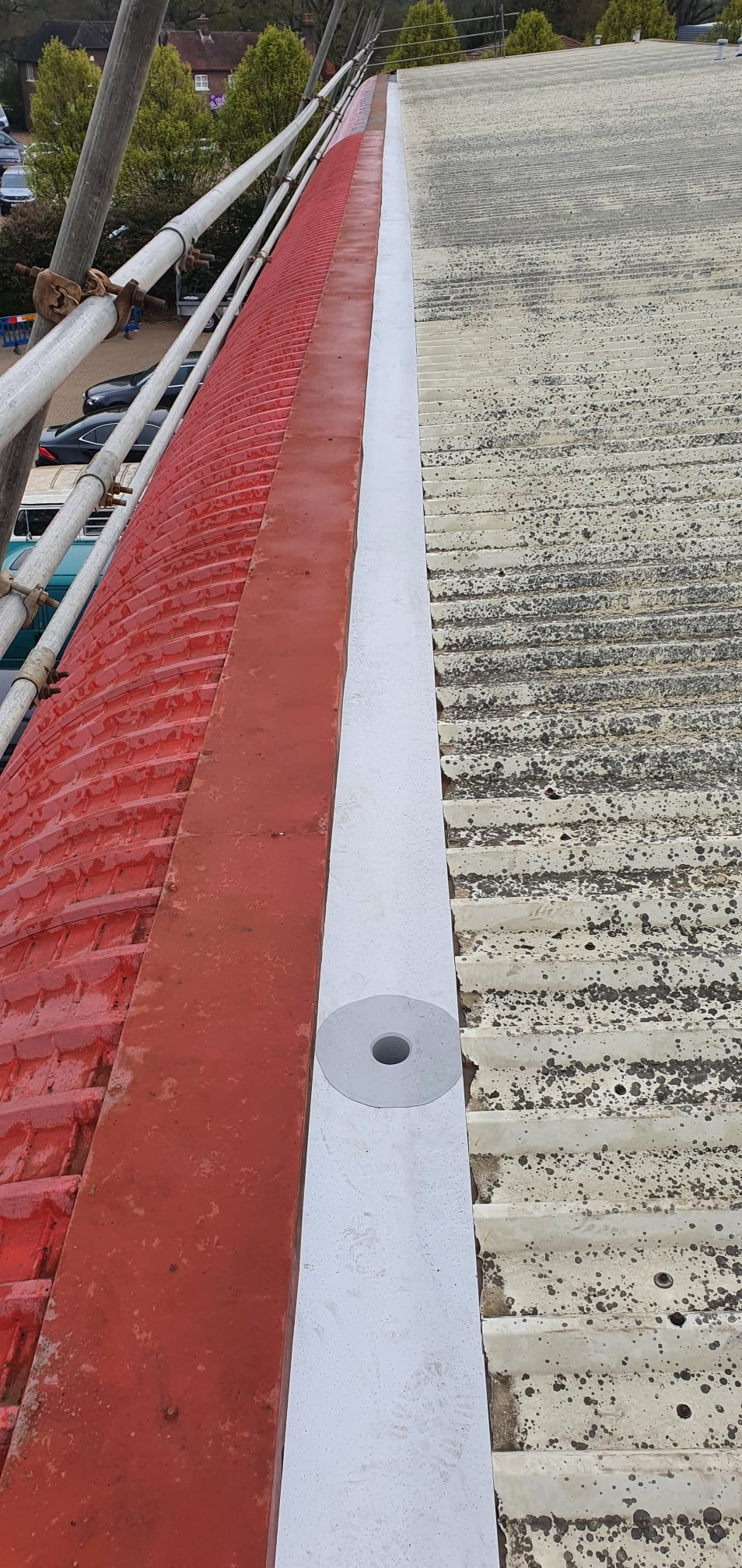 Office guttering work to a warehouse in Crawley