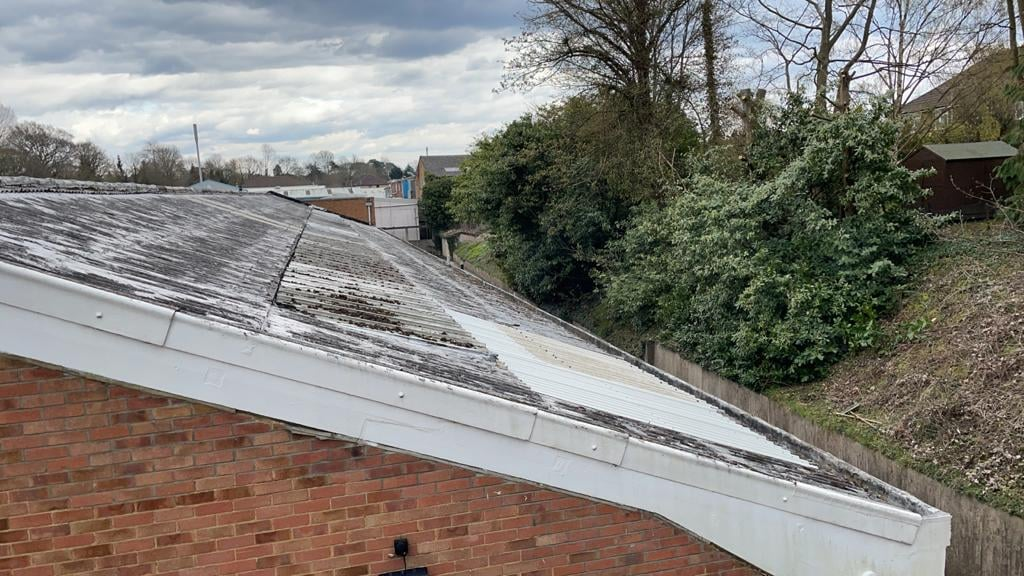 Roof repairs to a Warehouse roof in Reigate