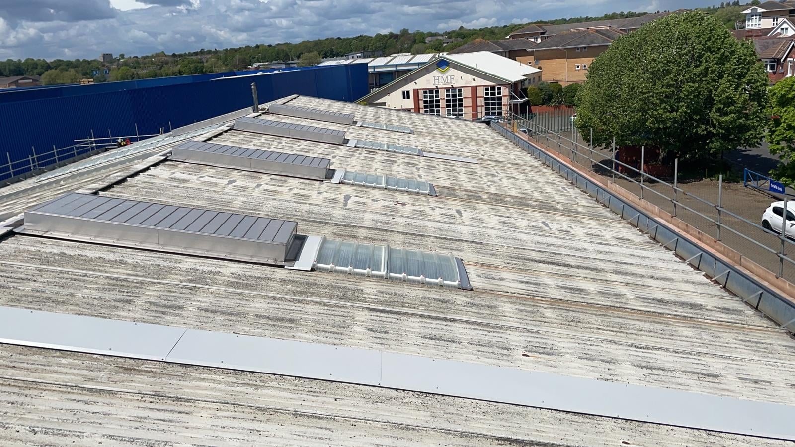 repair works to an empty retail industrial unit in Southampton Hampshire