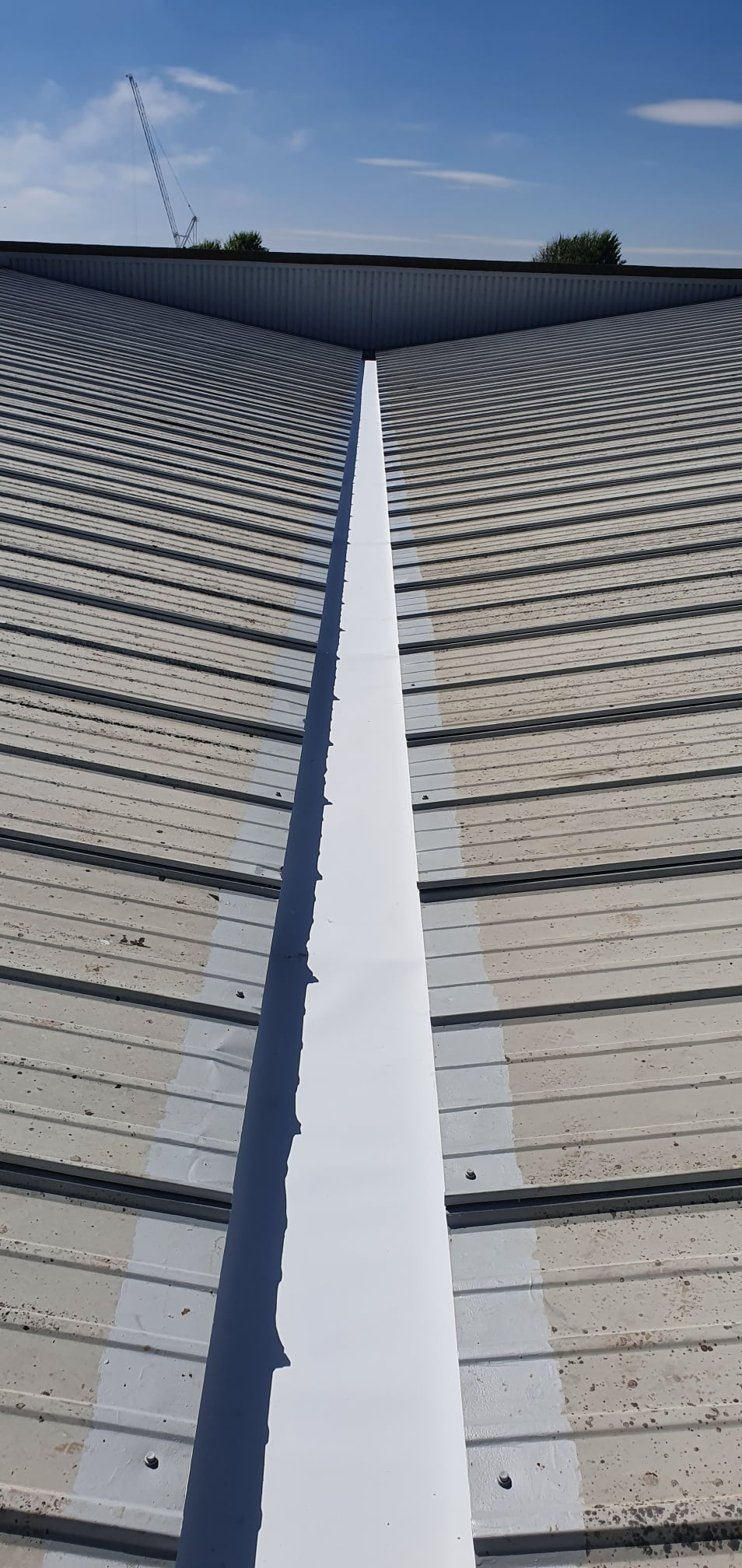Gutter Lining Work to a Furniture Store Roof in Hove West Sussex