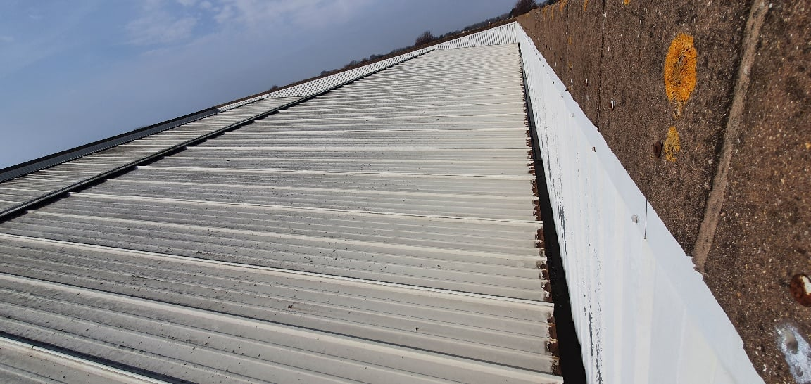 Gutter Lining Work to a Showroom in Hove West Sussex