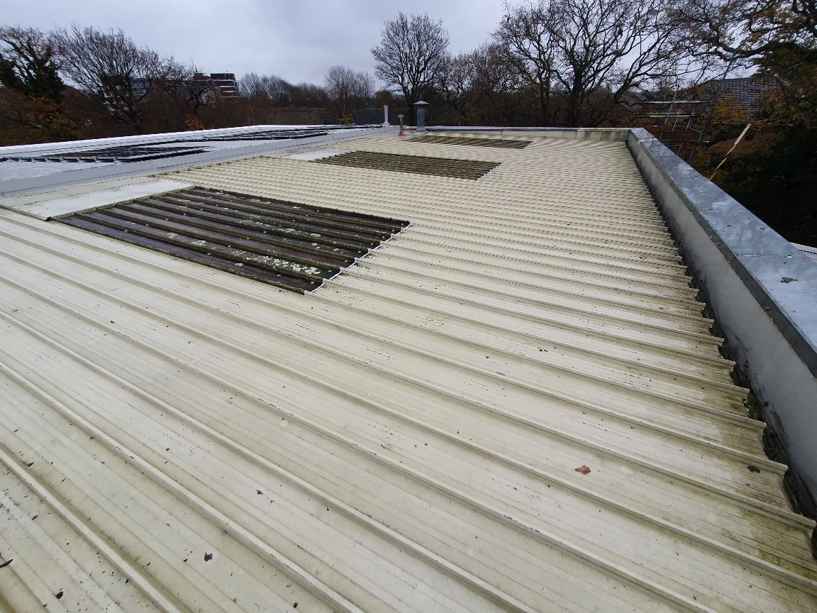 Over Roofing to an Office Roof in Crawley West Sussex