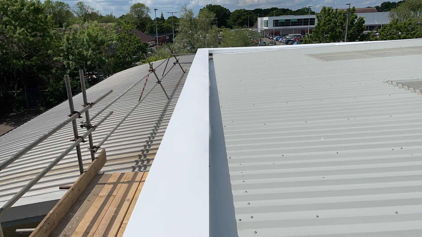 Over-Roofing to the Office Roof at Crawley West Sussex