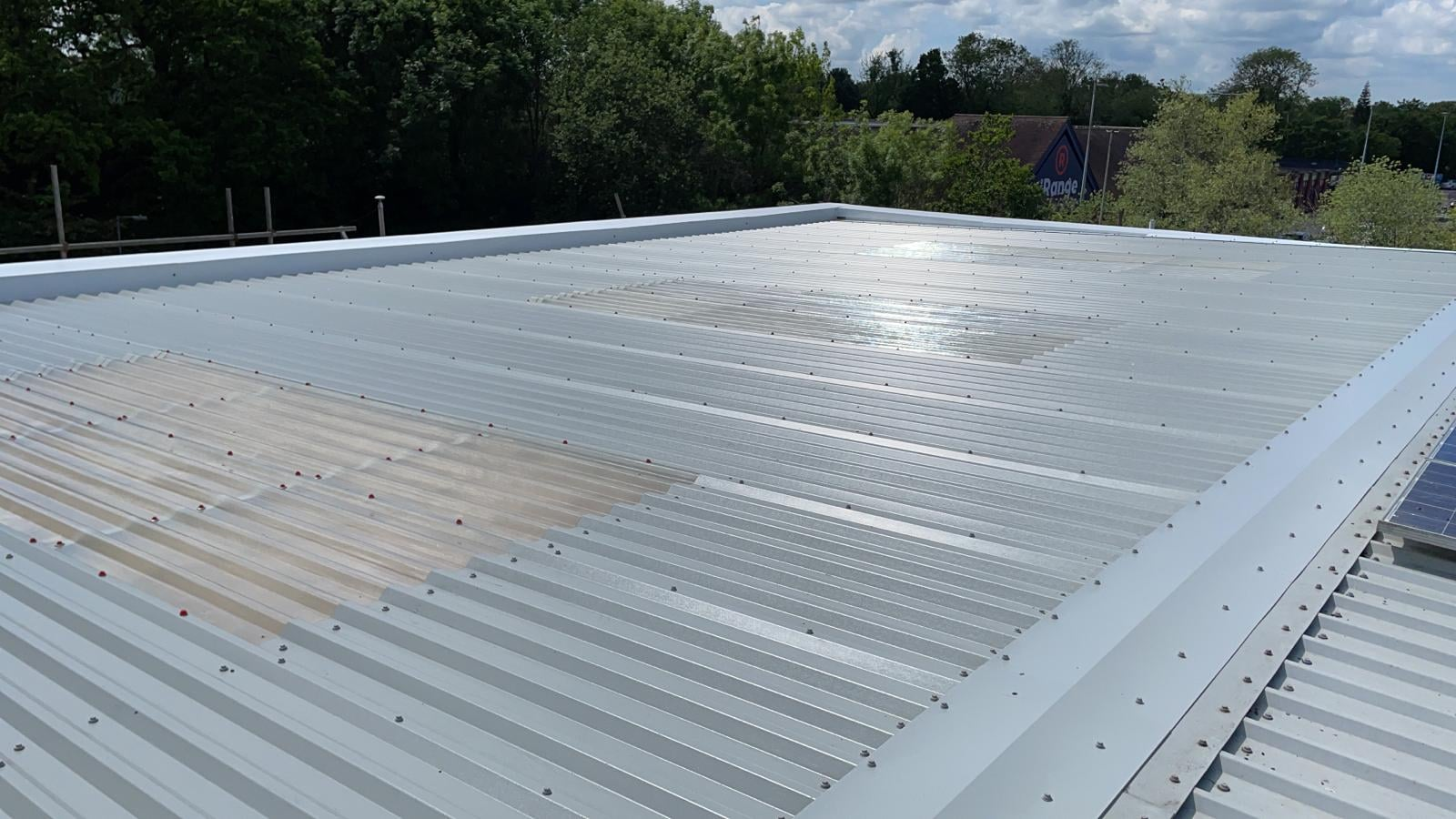 Over-roofing to a hall roof in Crawley West Sussex