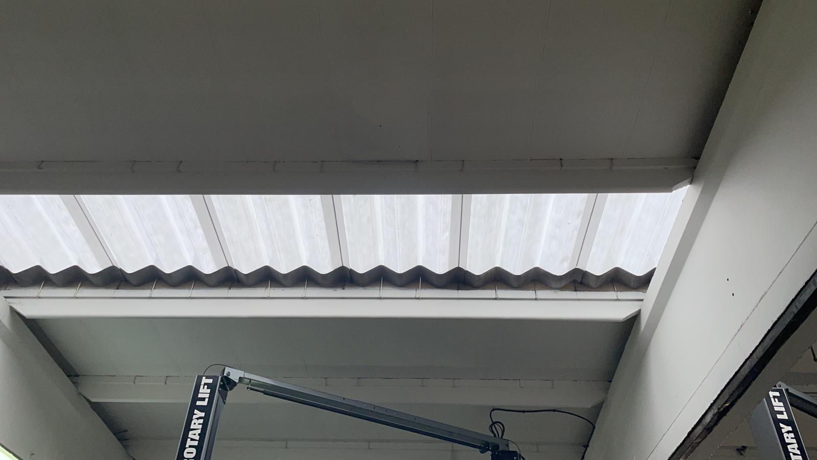 Factory rooflight replacement in Crayford Kent