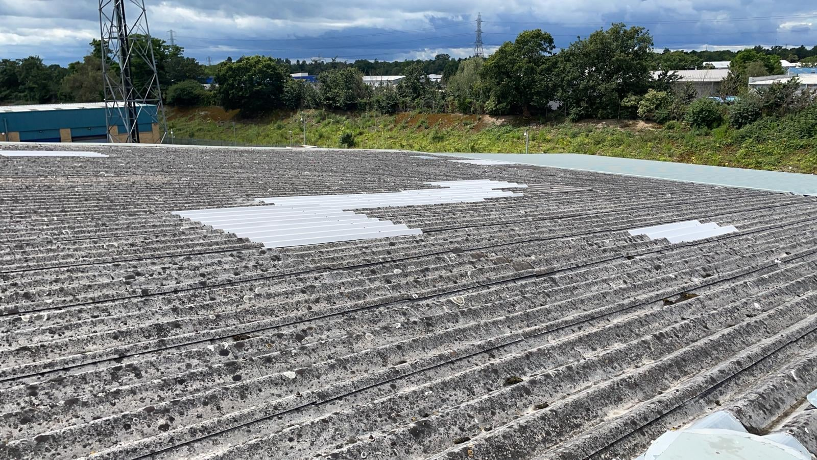 Repairs to a Factory - Warehouse roof in Weybridge Surrey