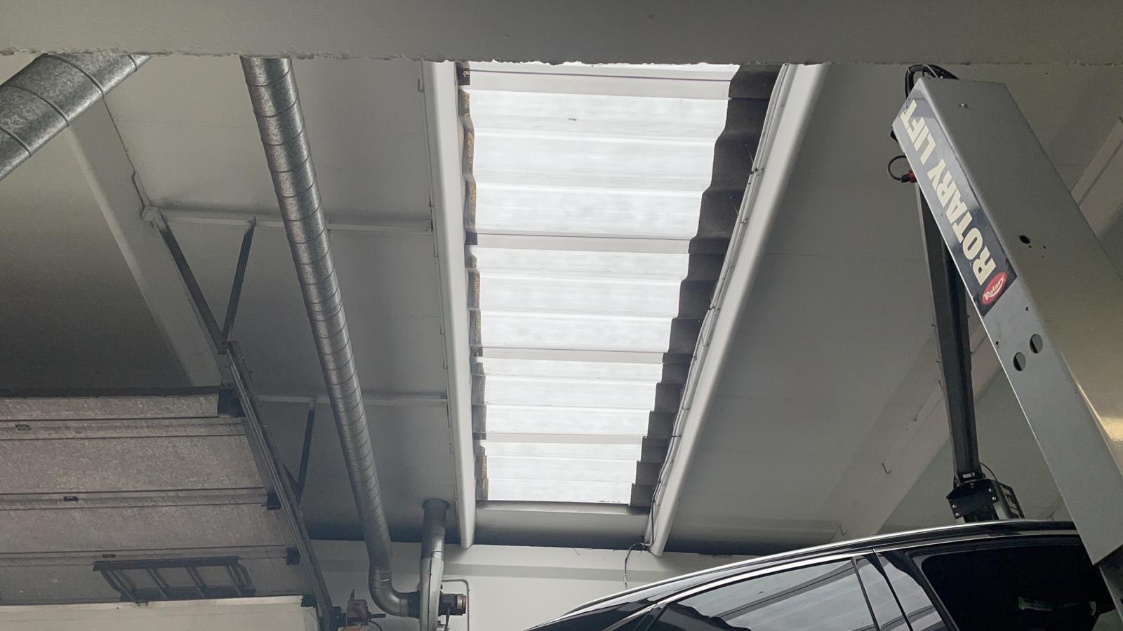 Workshop rooflight replacement in Crayford Kent