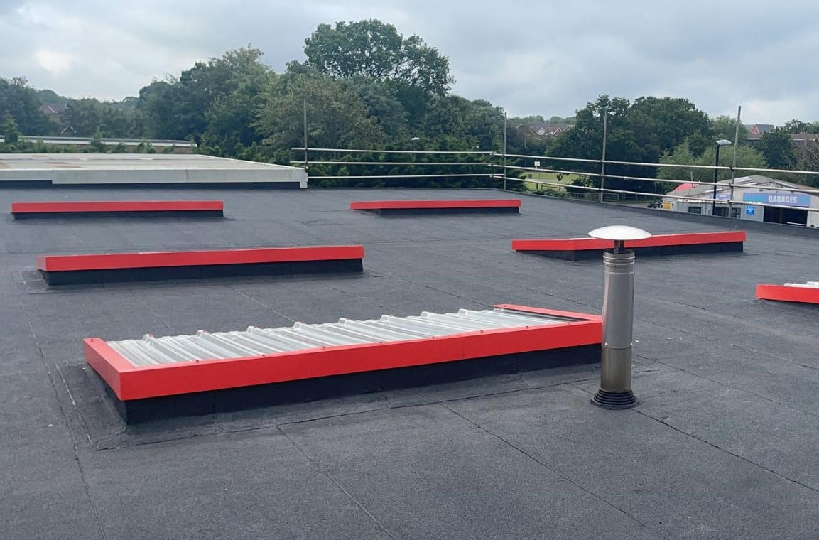 Felting and glazing project on a garage roof in Burgess Hill West Sussex