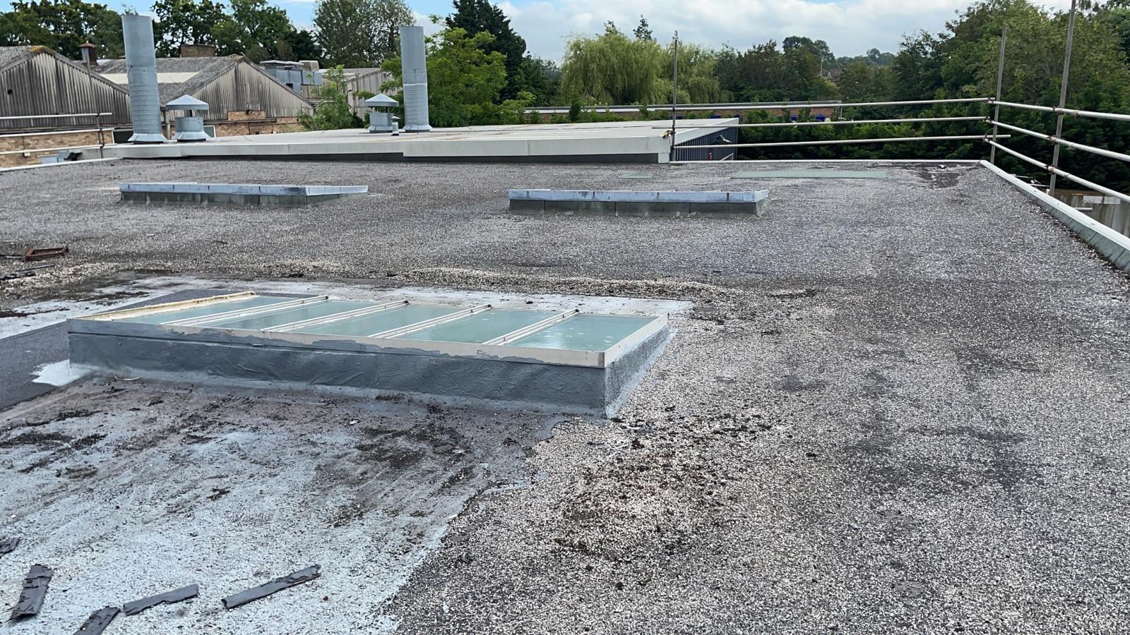 Garage roof felting repairs in Burgess Hill West Sussex