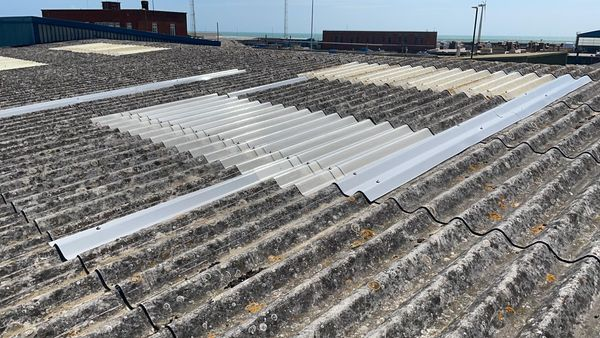 roofing repairs to a warehouse roof in Southwick West Sussex