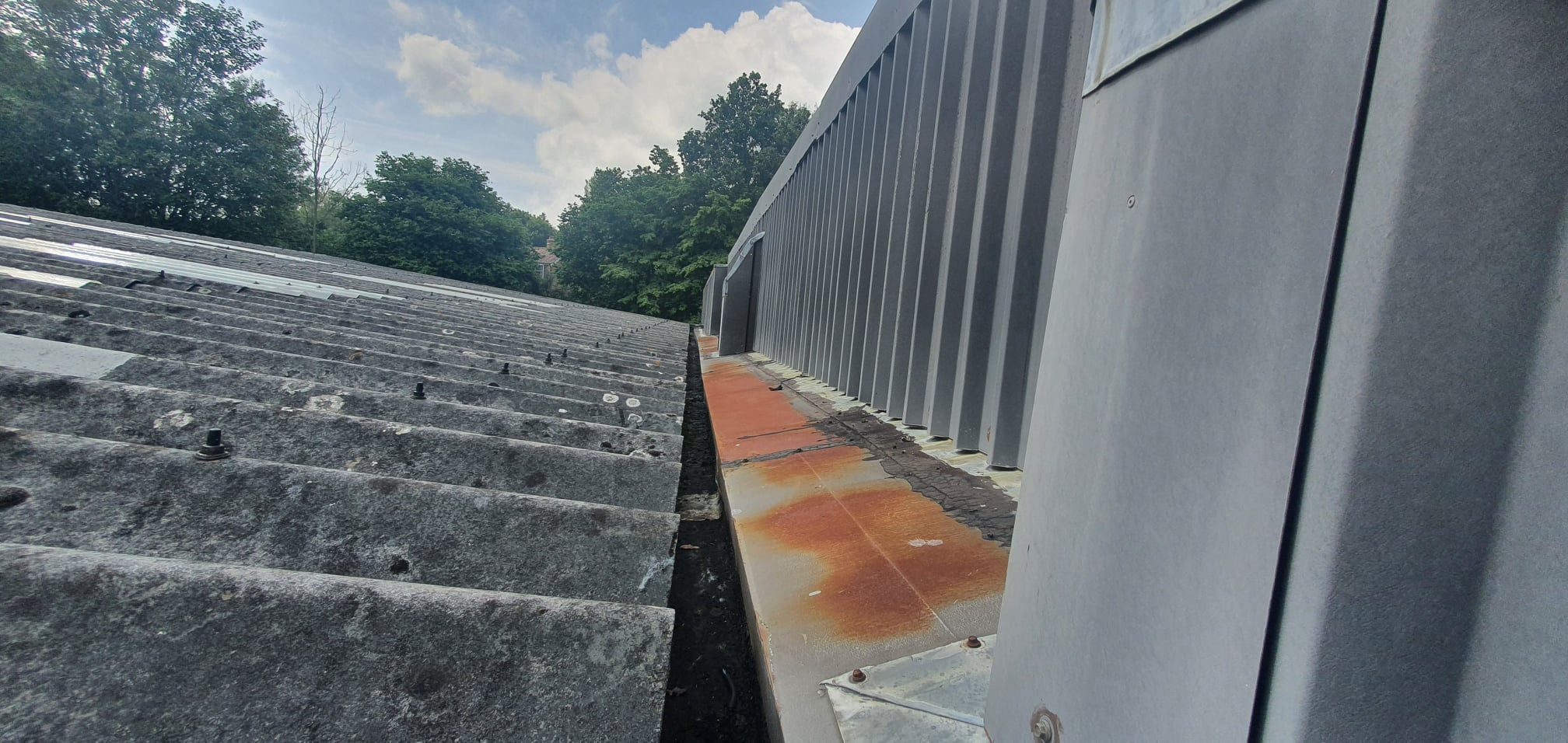 Gutter lining work to a warehouse and Warehouse roof in Crowborough East Sussex