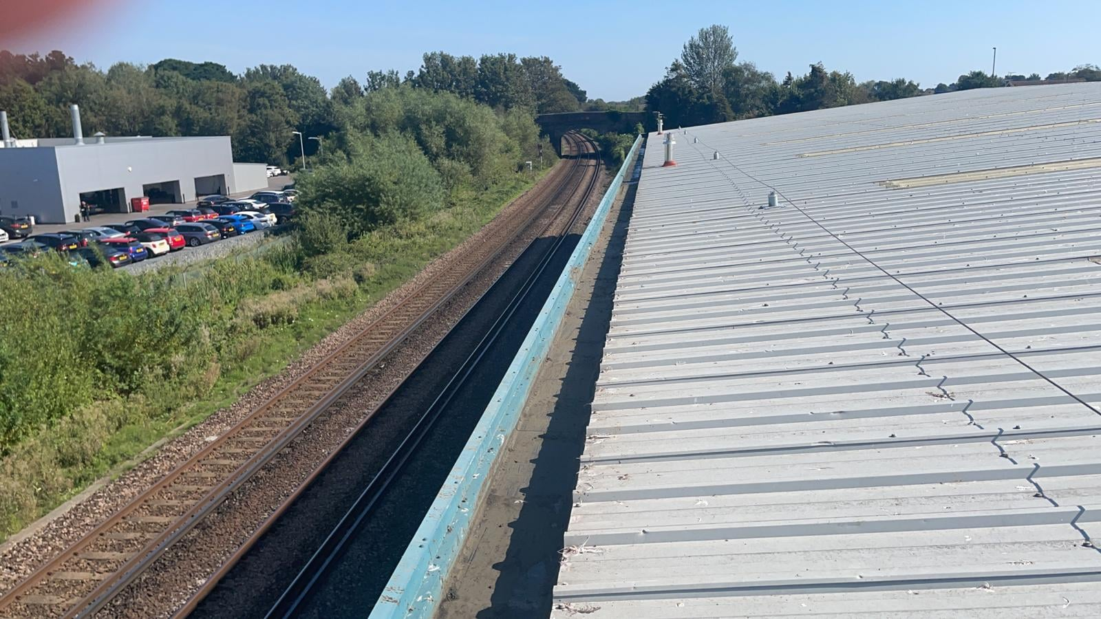 repair work to a warehouse roof in Rustington West Sussex