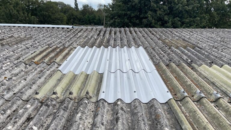 roofing repairs to a warehouse roof in Crawley West Sussex