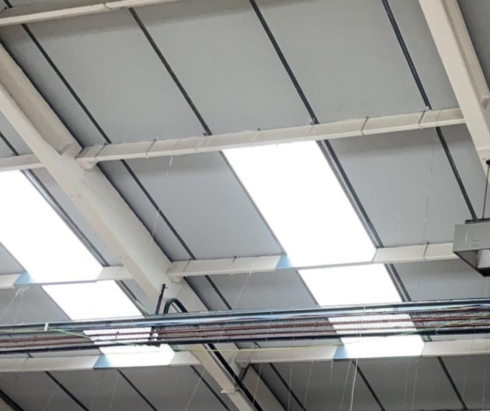 Repair work to the workshop roof at a factory in Benfleet Essex